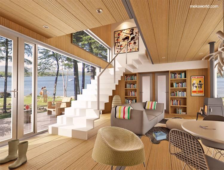 Casas prefabricadas ya no son lo que eran nova te asesora - Interior casas de madera ...