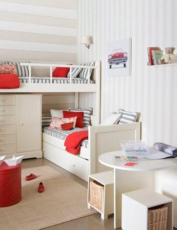 Habitaciones perfectas para varios hermanos mellizos o for Cuartos para ninas gemelas