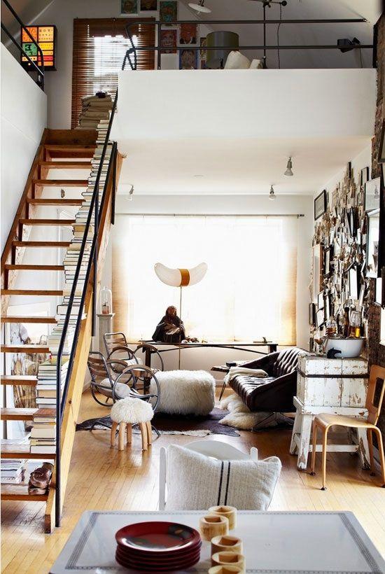 Escaleras De Duplex Of Escaleras Adaptadas A Espacios Peque Os Como Estudios O
