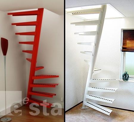 Escaleras adaptadas a espacios peque os como estudios o for Escaleras modernas para espacios pequenos
