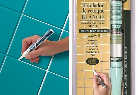 Rotulador para pintar juntas azulejos