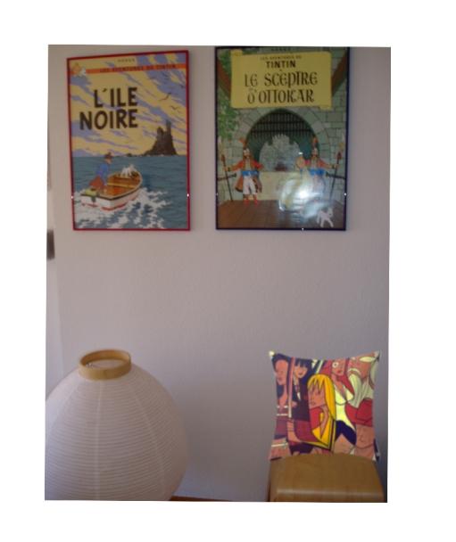 sala de estar con tintin