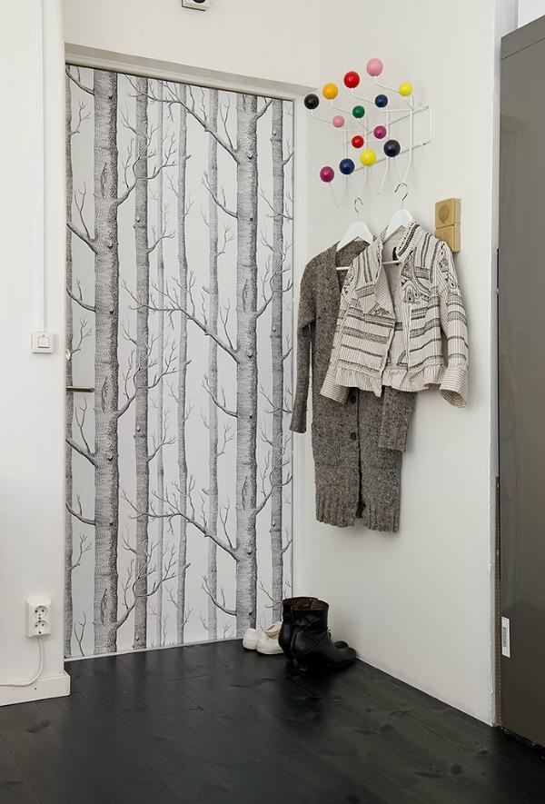 deur-met-behang