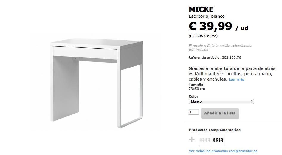 Crear un lugar de estudio o trabajo de la nada y a un for Ikea mesas de estudio precios