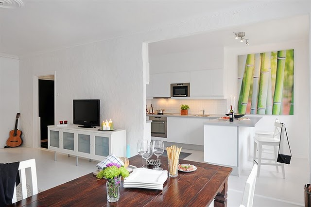 Casas peque as muy chic decoradas con poco presupuesto - Casas decoradas en blanco ...