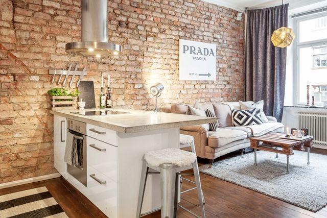 CÓmo integrar la cocina en apartamento pequeÑo decorado estilo ...