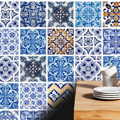 Azulejos adhesivos para las paredes de ba os y cocina for Papel adhesivo para azulejos