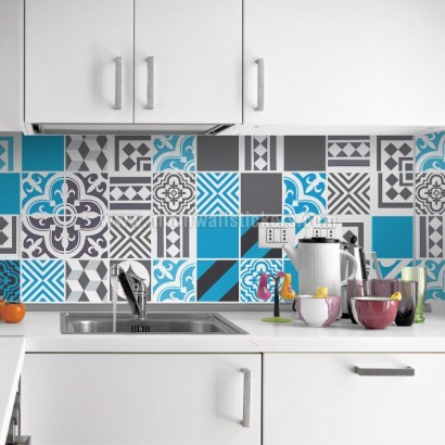 Azulejos adhesivos para las paredes de ba os y cocina for Pegatinas azulejos cocina