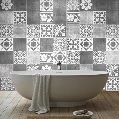 Azulejos adhesivos para las paredes de ba os y cocina - Azulejos bano ikea ...