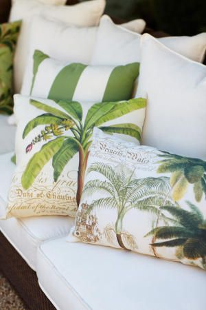 Pottery Barn Palmetto Collection pillows