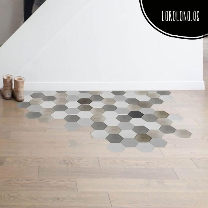 vinilo-decoracion-suelo-patron-ceramico-hexagonos-gris