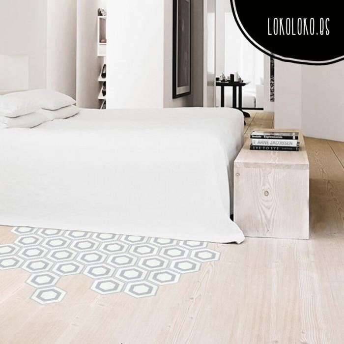 vinilo-para-el-suelo-hexagonos-blancos-moderno